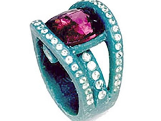 Colored stone ring wax